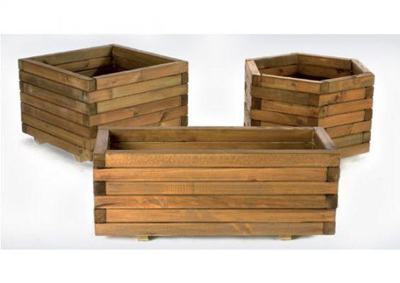 Jardinera madera - Maceteros de madera para exterior ...