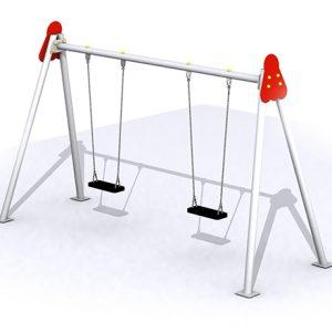 columpio-doble-asientos-planos-metalicos